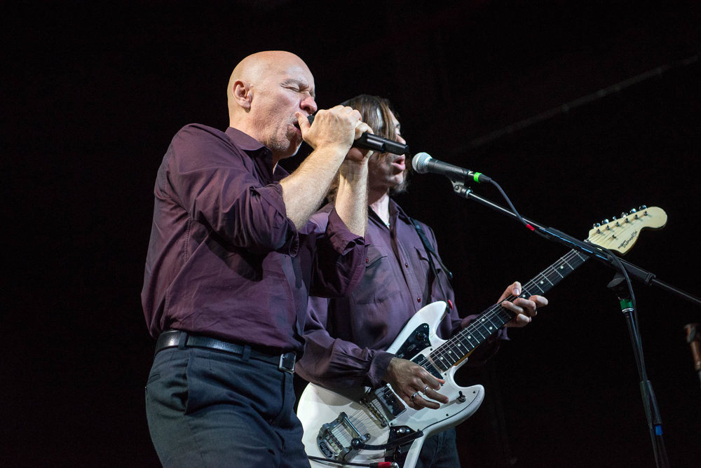 Matt Johnson and Barrie Cadogan of The The performing at Brooklyn Steel on Sunday, September 16, 2018.