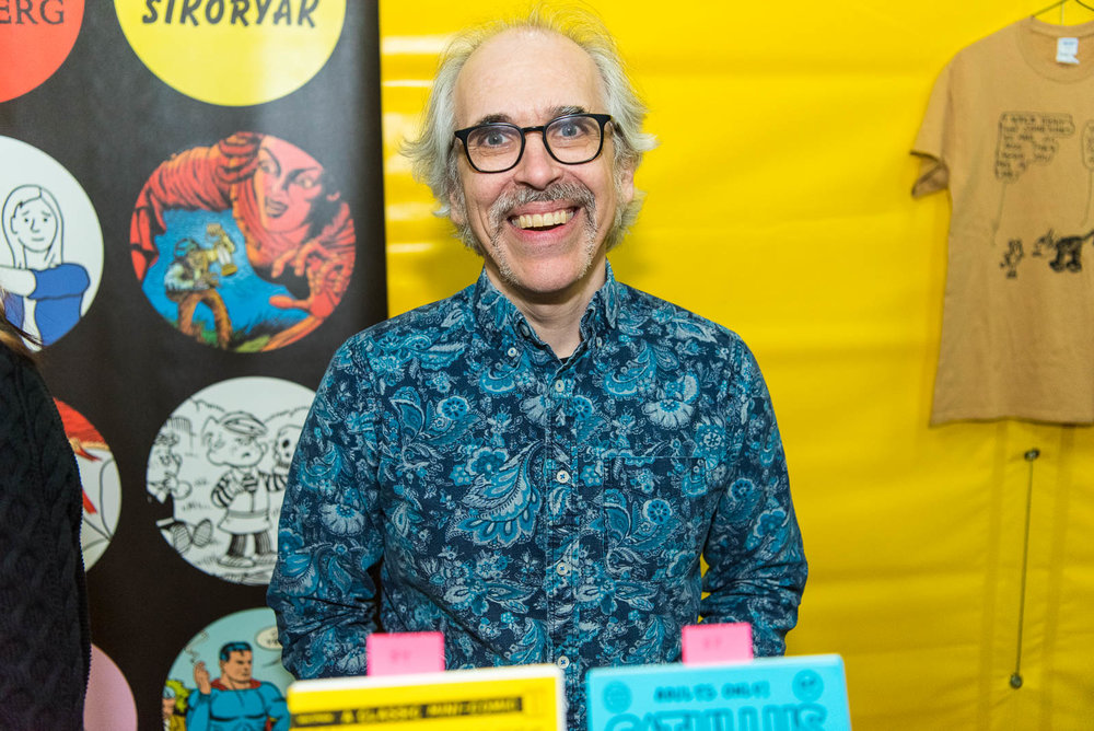 R. Sikoryak during Comic Arts Brooklyn on Sunday, November 11, 2018.