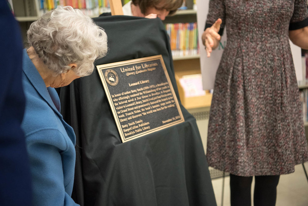 Unveiling the Literary Landmark plaque