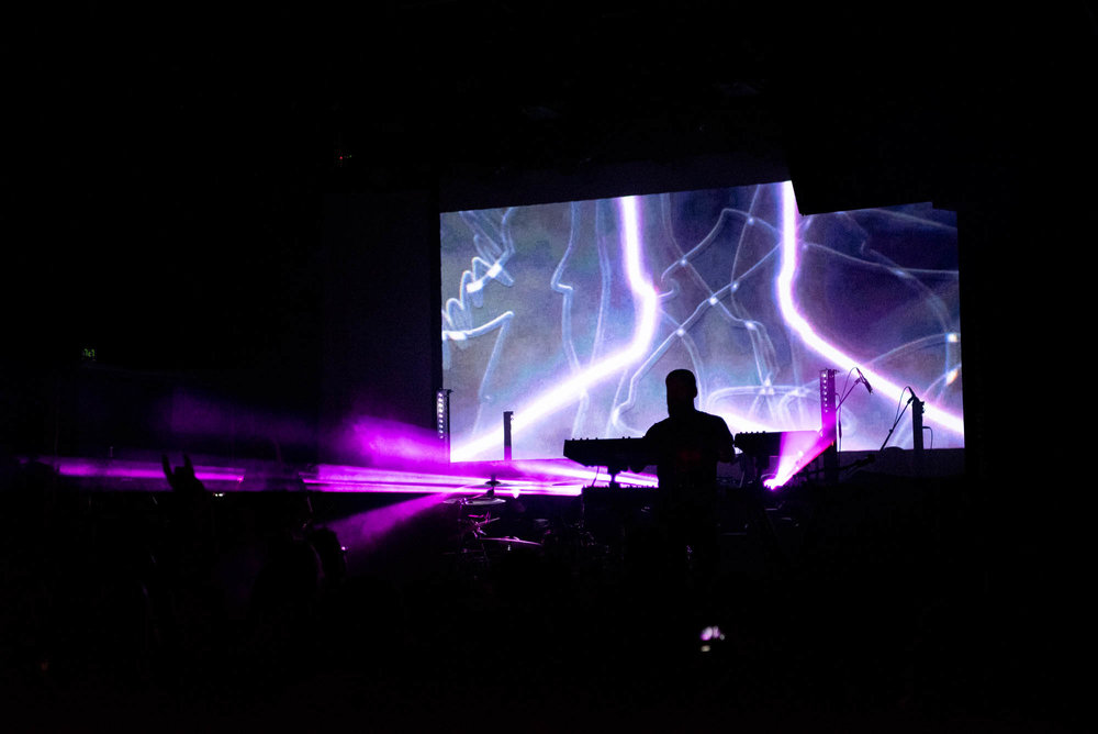 Carpenter Brut performing at Irving Plaza on Friday, December 7, 2018.