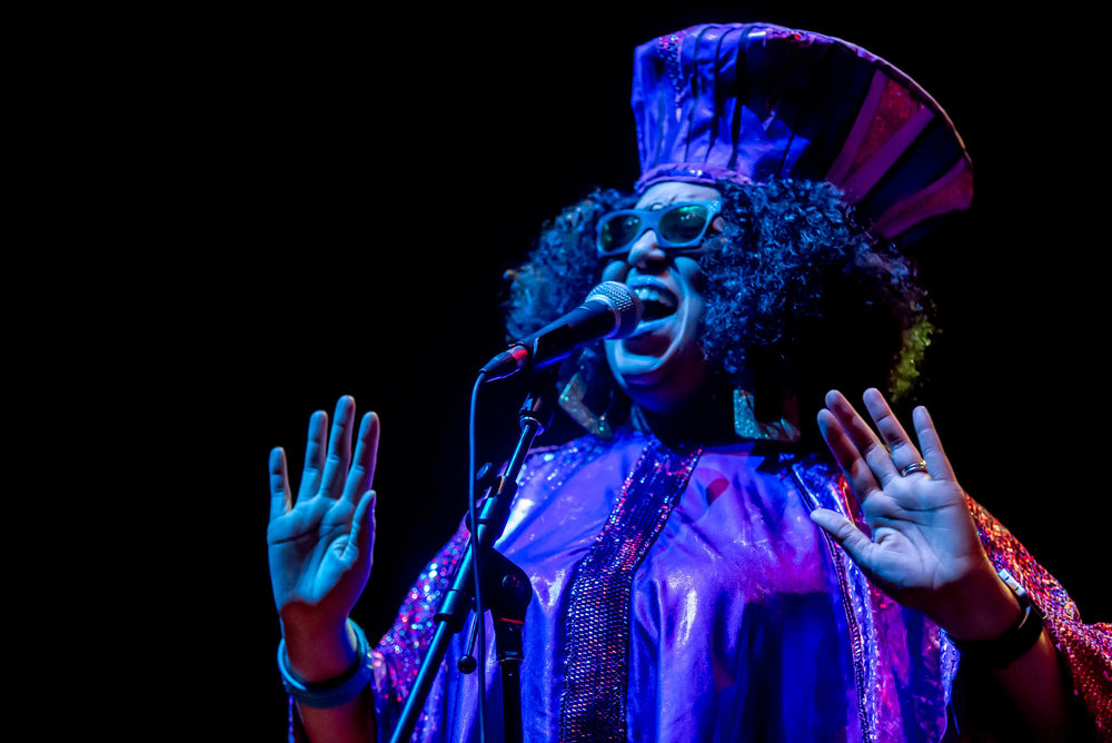 Tara Middleton of The Sun Ra Arkestra at Hammerstein Ballroom on Saturday, December 8, 2018.