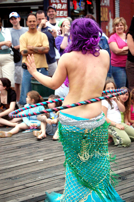 A photo of a Mermaid Parade participant during the annual Mermaid Parade on Saturday, June 24, 2006.