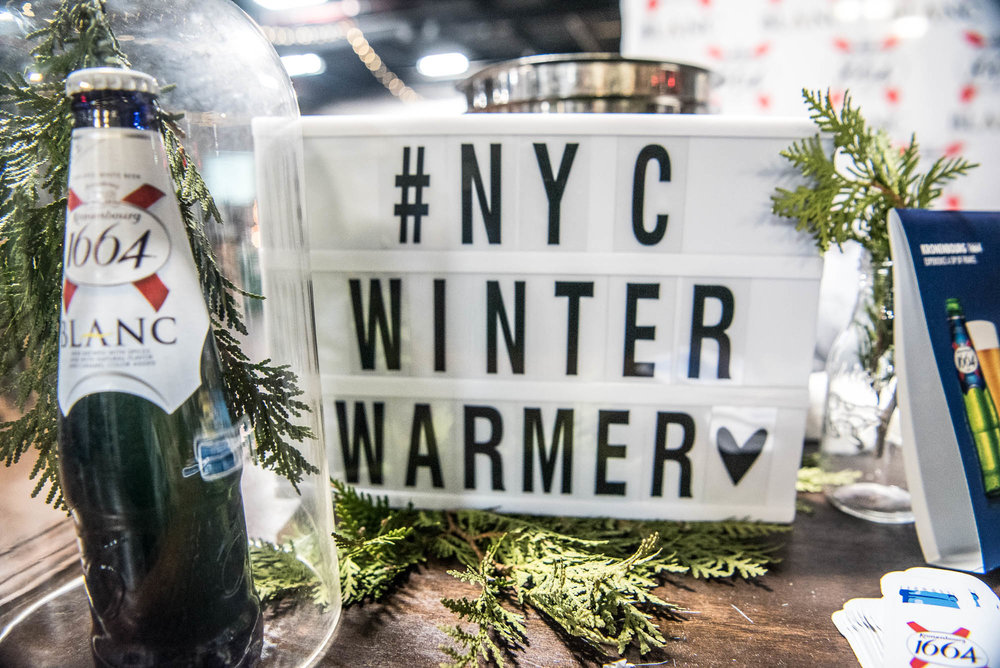 NYC Winter Warmer sign at Brooklyn Expo Center on Saturday, February 2, 2019.