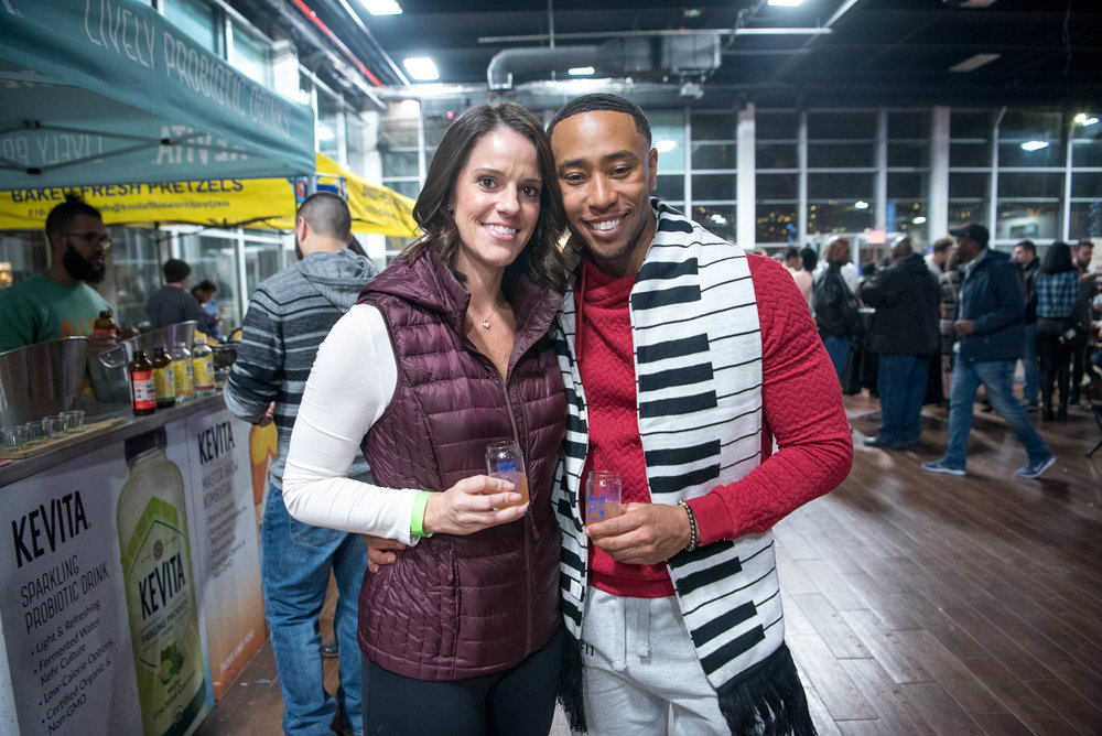 Winter couple at Winter Warmer at Brooklyn Expo Center on Saturday, February 2, 2019.
