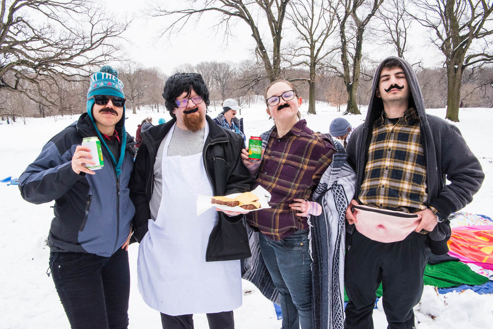 Paternal Picnic team during Competitive Winter Picnicking in Prospect Park on Saturday, March 2, 2019.