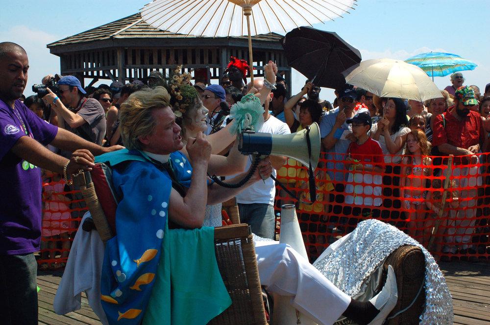 King Neptune and Queen Mermaid during Mermaid Parade on Saturday, June 21, 2008.