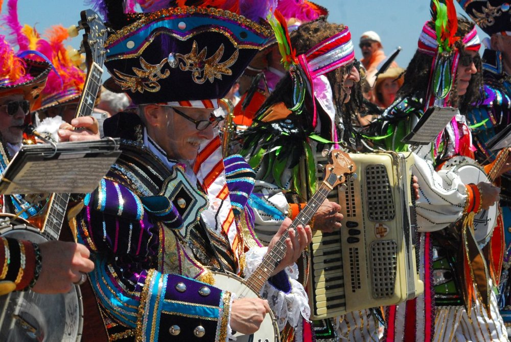 Musicians performing at the Mermaid Parade on Saturday, June 23, 2007.
