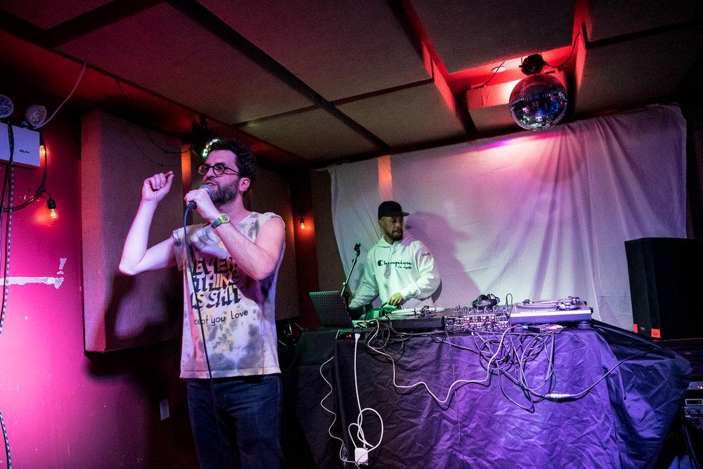 MC Paul Barman and Prince Paul at The Safari Room at El Cortez