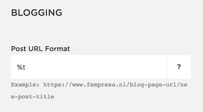 URL structuur blogartikelen aanpassen in Squarespace
