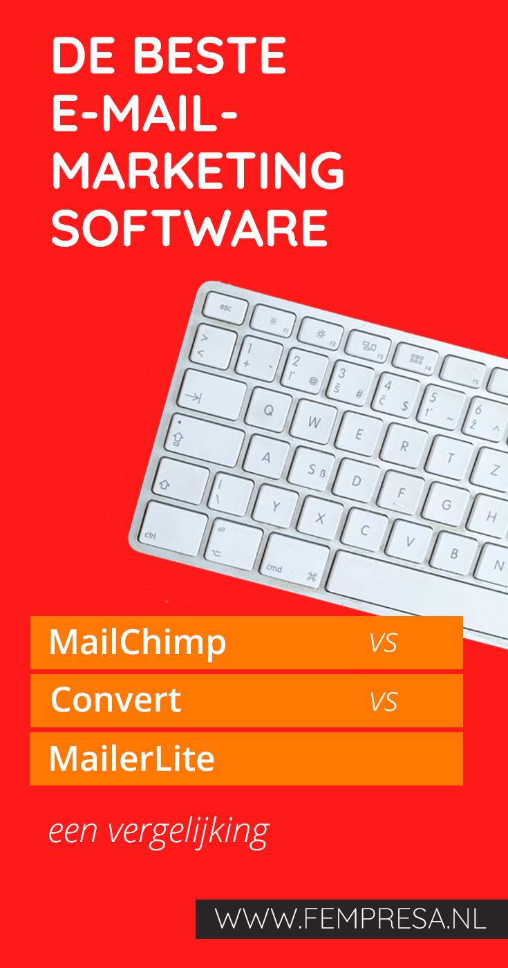 De beste e-mailmarketing software: een MailChimp - ConvertKit - MailerLite vergelijking