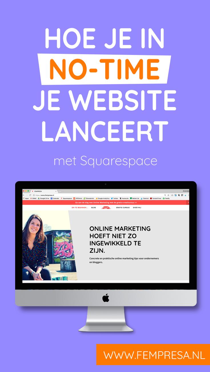 Het maken van je eigen website is tegenwoordig echt niet meer zo ingewikkeld. Met Squarespace lanceer je in no-time je eigen blog.
