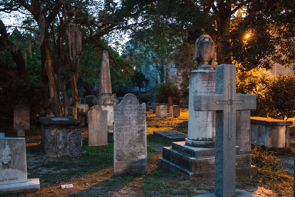 The cemetery outside of St. Phillip's Episcopal Church