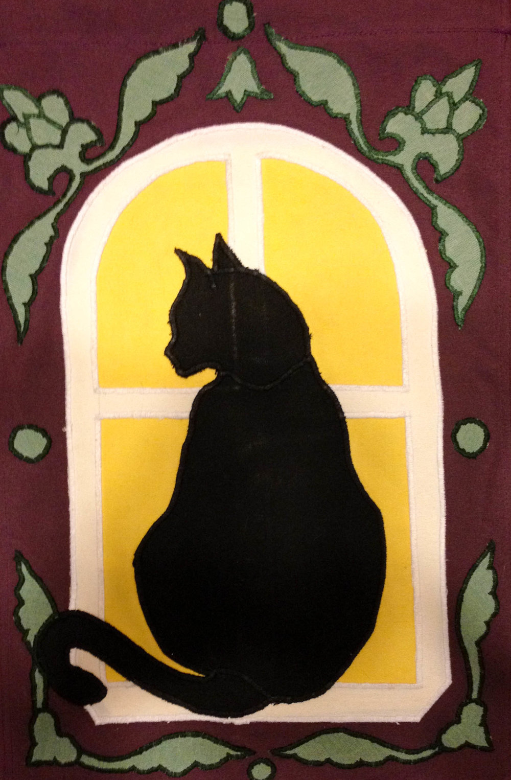 Canvas Appliqued Cat