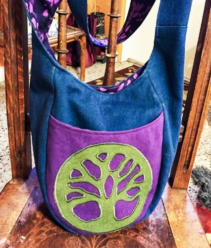 Tree of Life Appliqued Bag