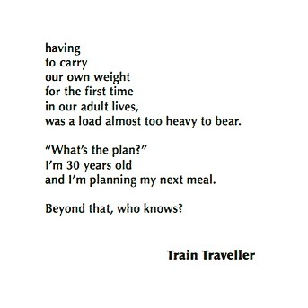 3/3 I loved this response so much. Thank you to the lady known only as Train Traveller for submitting such a candid and thoughtful story xx