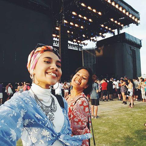 My friend Didi and I at Coachella in 2016
