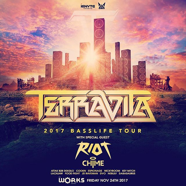 Coming 11/24 at The Works were bringing the @terravita #basslife tour with @riotmusic and @chimetunes. @dub.down.detroit and @ignyteevents are coming for you Detroit... #dubdown #detroit #edm #bass #dubatep  #rave #electronicmusic #tour #massive #rave #event #party #music #djs #producer #dnb #headbangers #laser #riddim #epic #sub #mad #banger #