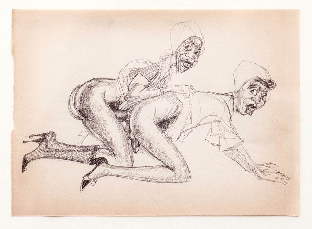 Berry Horton      Untitled , (c. 1940), Hermaphrodite Series; work on paper