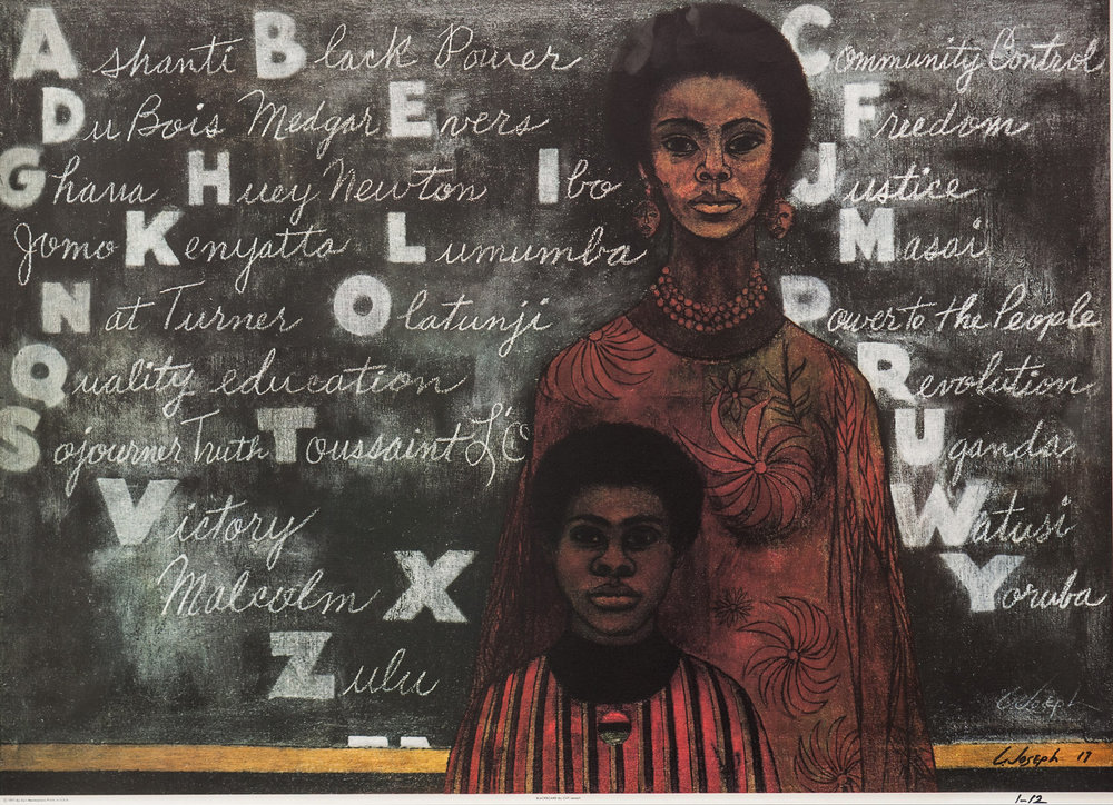 "Blackboard  (1971); oil on canvas    Congratulations to Hedspeth Art Consulting artist, Clifford ""Cliff"" Joseph for having his work        in ""Soul of A Nation"" at the Tate Modern."