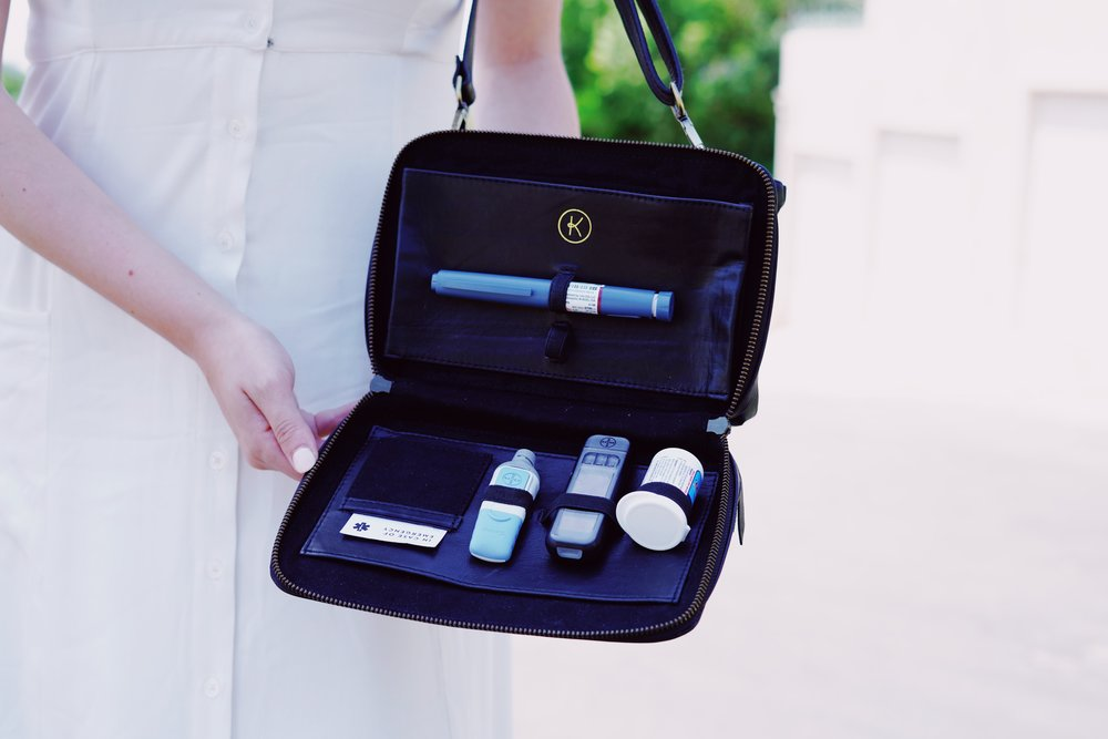 """My favorite features: - - Super chic- Looks just like a """"regular"""" bag- High end material- Separates every day items and diabetes items- Has an emergency card with contact info- Makes carrying diabetes supplies fashionable and effortless !"""