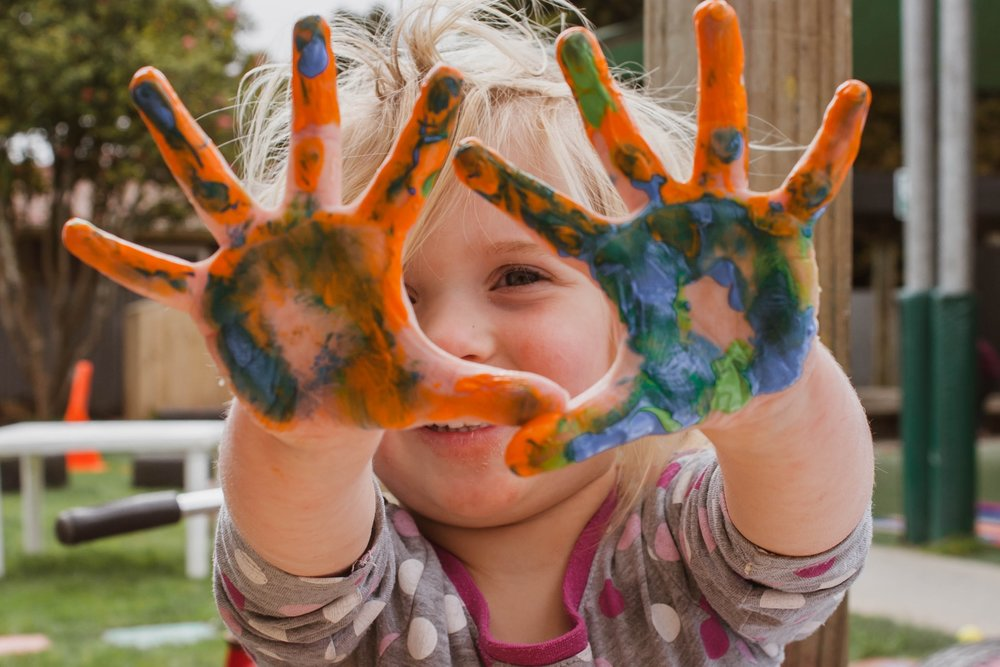 The Kids Coast is an area dedicated to artistic activities for kids during Ebb and Flow weekend.