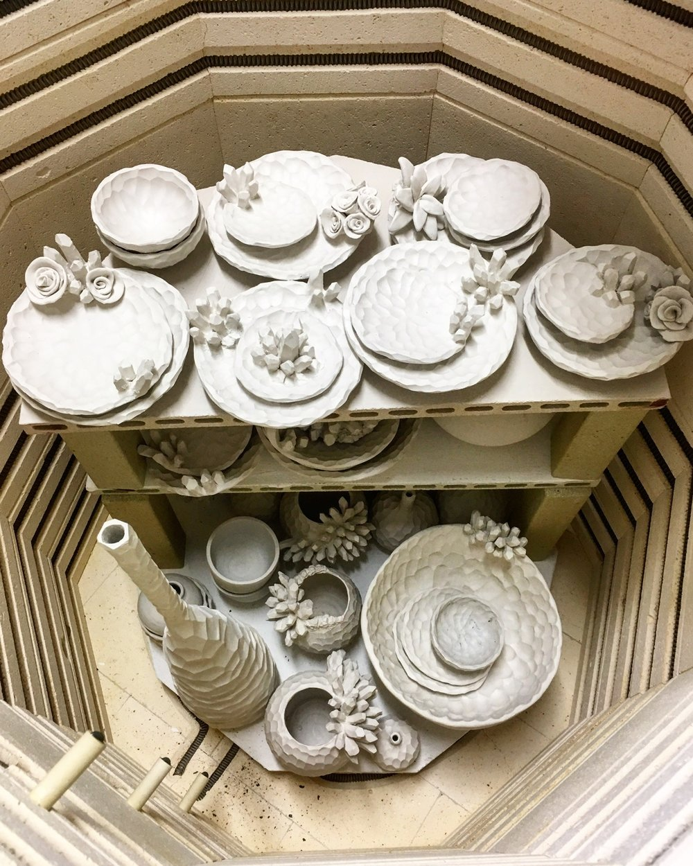 loaded kiln
