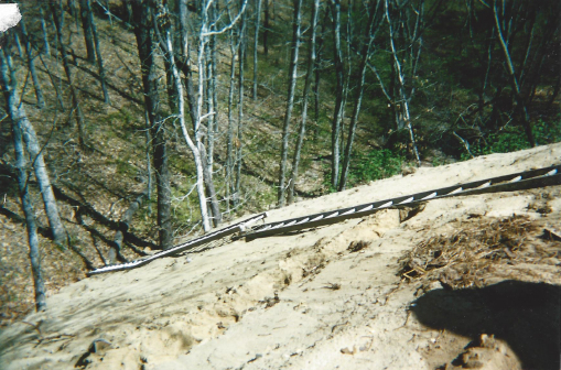 This 75 foot slope looks steep and scary, but this is what we work on and this is why we wrote our publication.