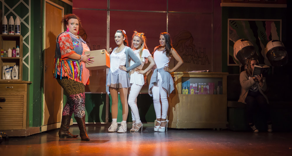 Sally Manning as Paulette with the Delta Nu Girls