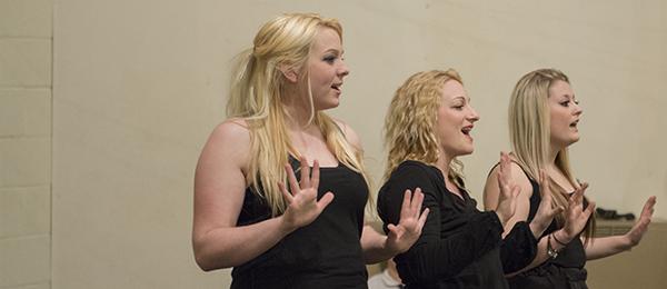 The Sha-bop Girls in rehearsal