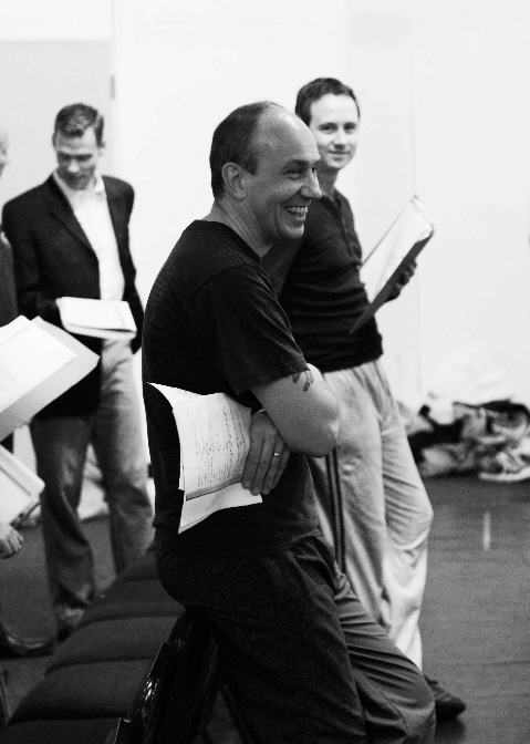 Chris Andrews in rehearsal for Anything Goes (rear right of shot)