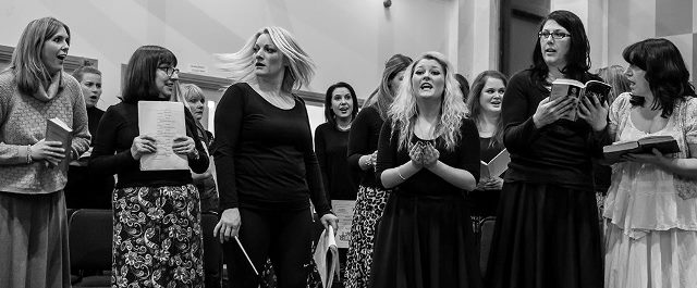 Louise Gains in rehearsal as Doloris for Sister Act