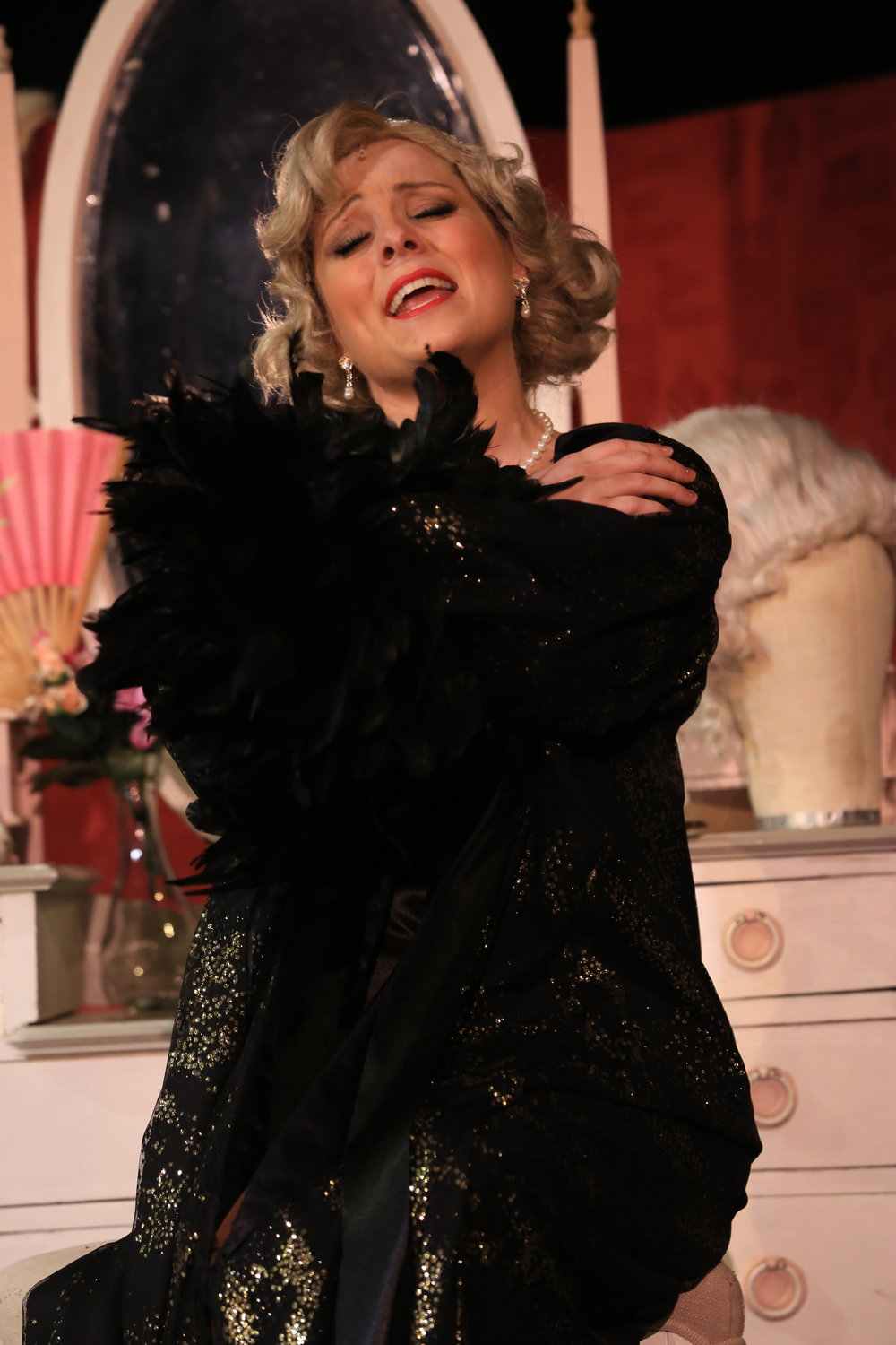 Kirsty Bennett as Lina Lamont, performing 'What's Wrong With me?""