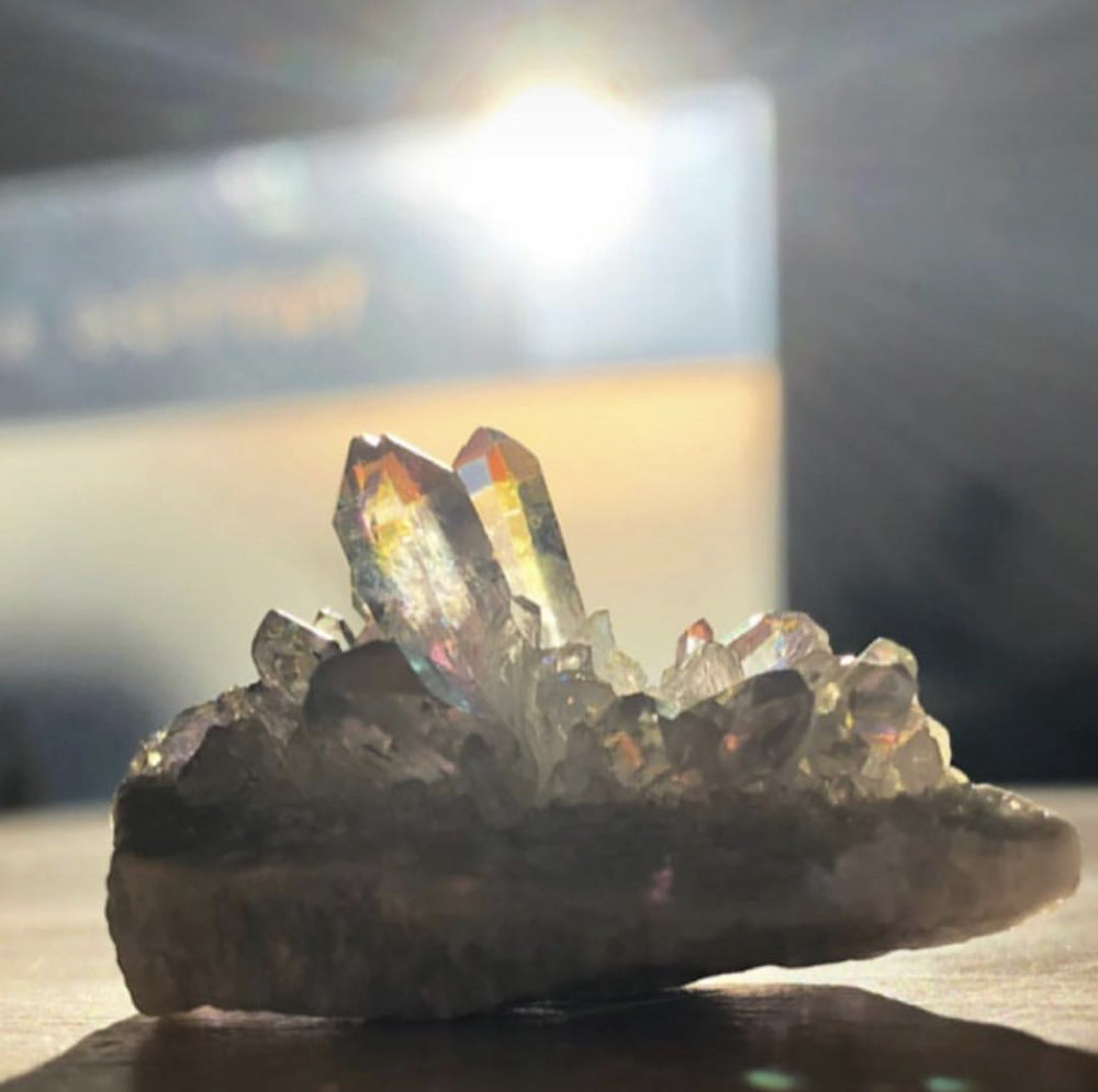 Crystals + Stones - Hand chosen by April, including informational cards with specific properties and uses. Some special stones are infused with Reiki to amplify and aid the intention of the holder.