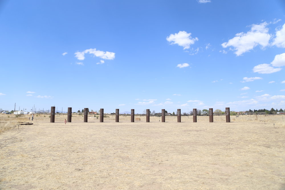 An art installation next to our campground (I spy our airstream to the far left!)