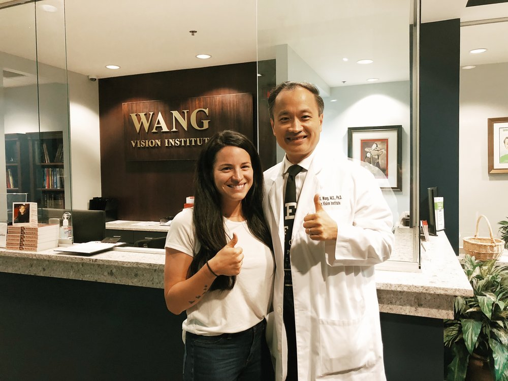 Dr. Wang & me right after the surgery!