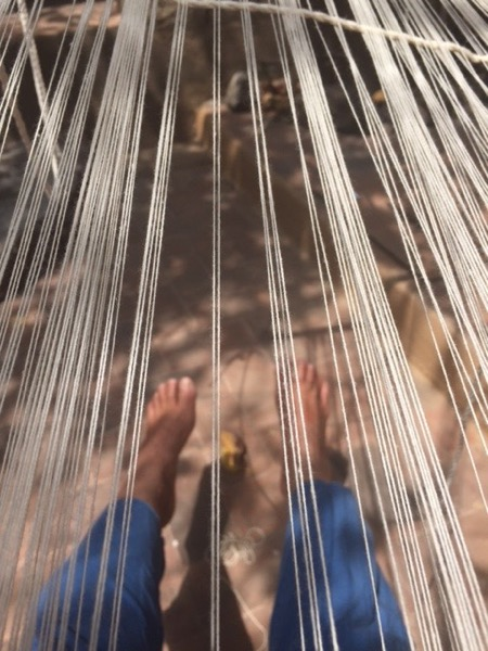 Weaving. Photo ©2016 Sandra Cisneros