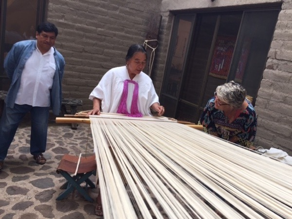 Weaving. Photo ©2016 Sandra Cisneros