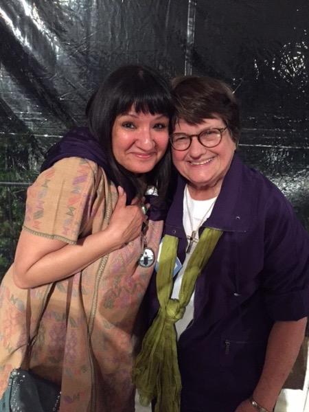 With Sister Helen Prejean in North Carolina. Photo ©2016 Sandra Cisneros