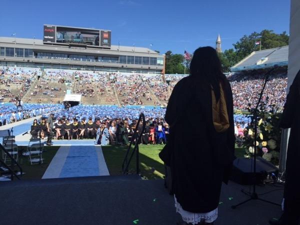 Entering the graduation ceremony, University of North Carolina. Photo ©2016 Sandra Cisneros