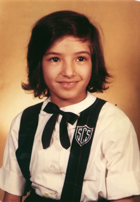 Sandra as a schoolgirl Photo ©2014 Sandra Cisneros
