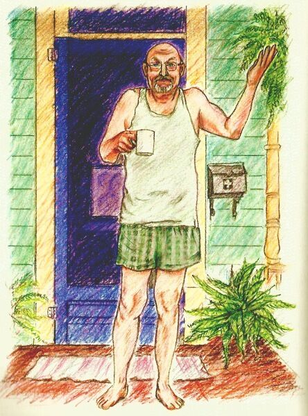 Craig Pennel, as portrayed in Sandra's book Have You Seen Marie? Illustration by Ester Hernandez.