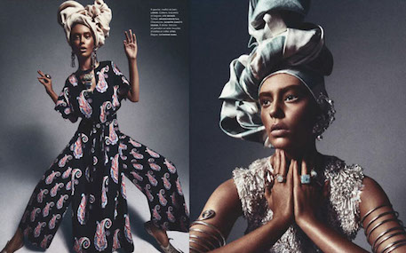 "Numéro Magazine's ""African Queen"" editorial."