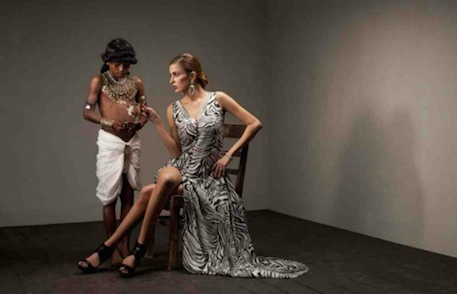 """Be my Slave"" fashion spread by designer Aamna Aqeel."