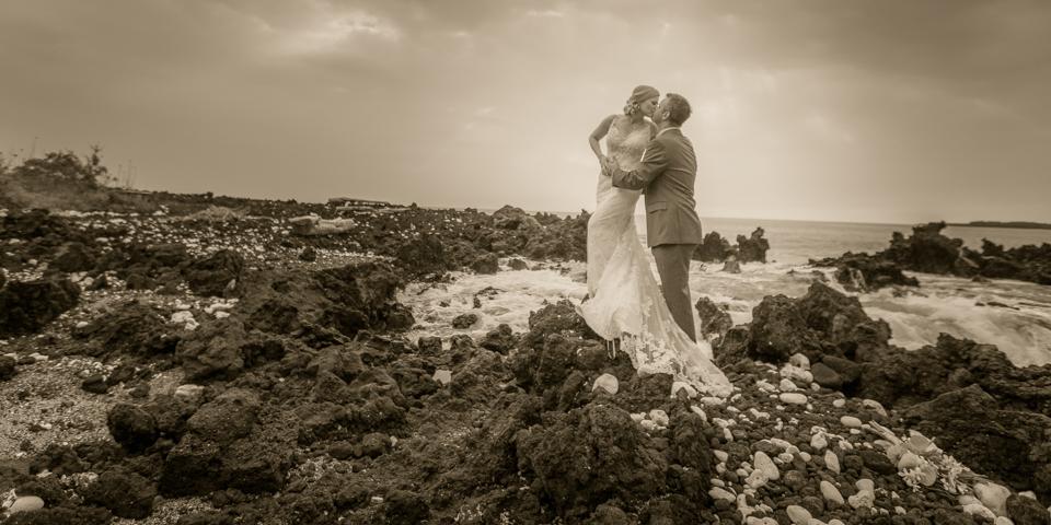 C King Photography Beach Destination Wedding Kona Hawaii Bridal Portrait