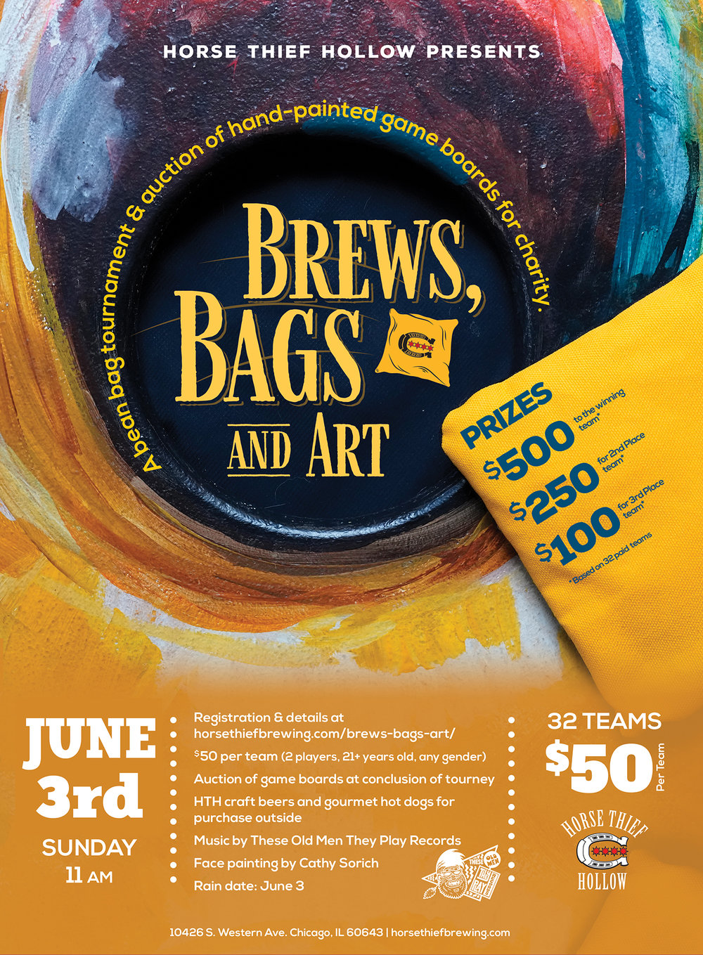 Brews, Bags and Art - Rain Day