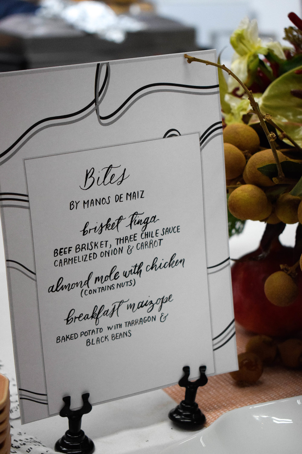 All menus and place cards by my dear friend, Kim from Wave Crest Calligraphy.