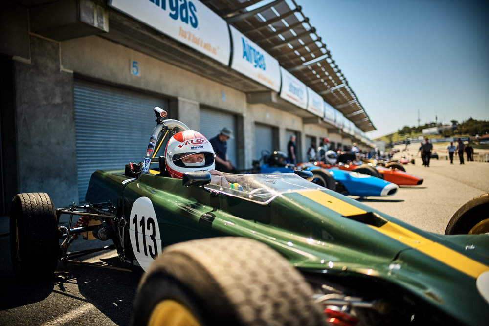 Danny Baker, ready to race