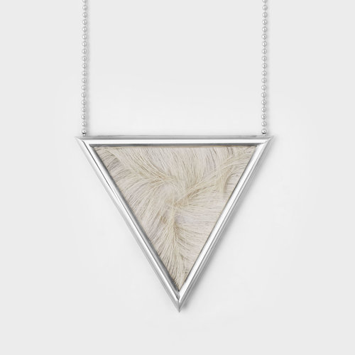 ptr necklace triangle p pendant