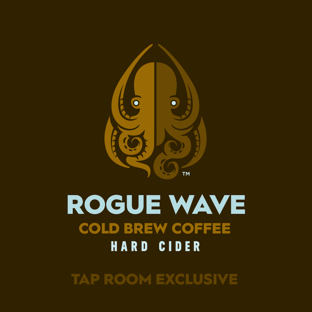 Rogue Wave  is a collaboration with  Rogue Elephant Coffee Roasting  (Hampton). This is a semi-sweet cider that features lightly roasted Ethiopian Yirgacheffe, cold brewed over 24 hours, infused into 100% Virginia apple cider.