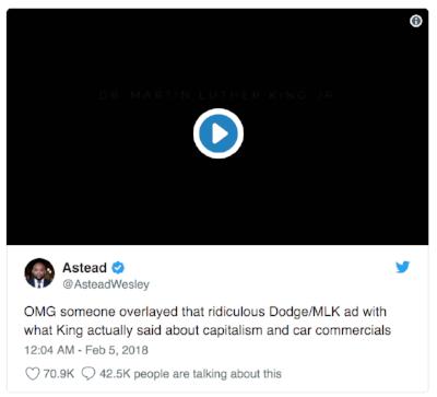 Twitter MLK Dodge Ram commercial